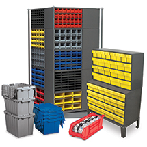 Elegant Featuring Durable, Innovative Plastic Storage Bins; Bin Hanging Systems;  Totes And Containers; Wire And Steel Shelving; And Cabinets For Parts  Storage.