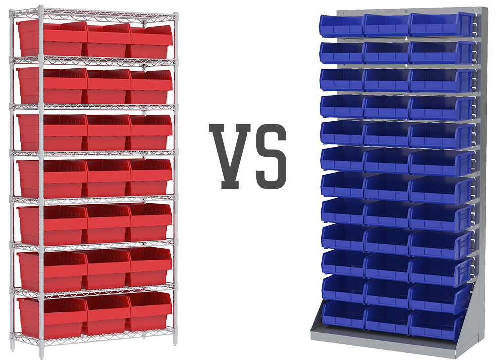 Wire Shelving vs Louvered Panels: How Do I Organize My Storage Bins? - Akro-mils Stackable Plastic Storage Bins Storage Cabinets