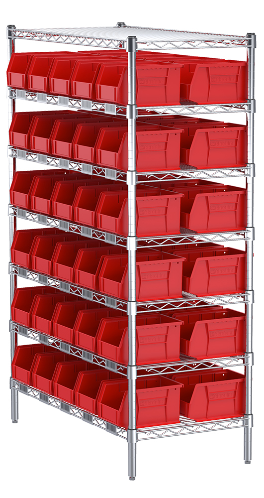 Akro Mils Stackable Plastic Storage Bins Storage