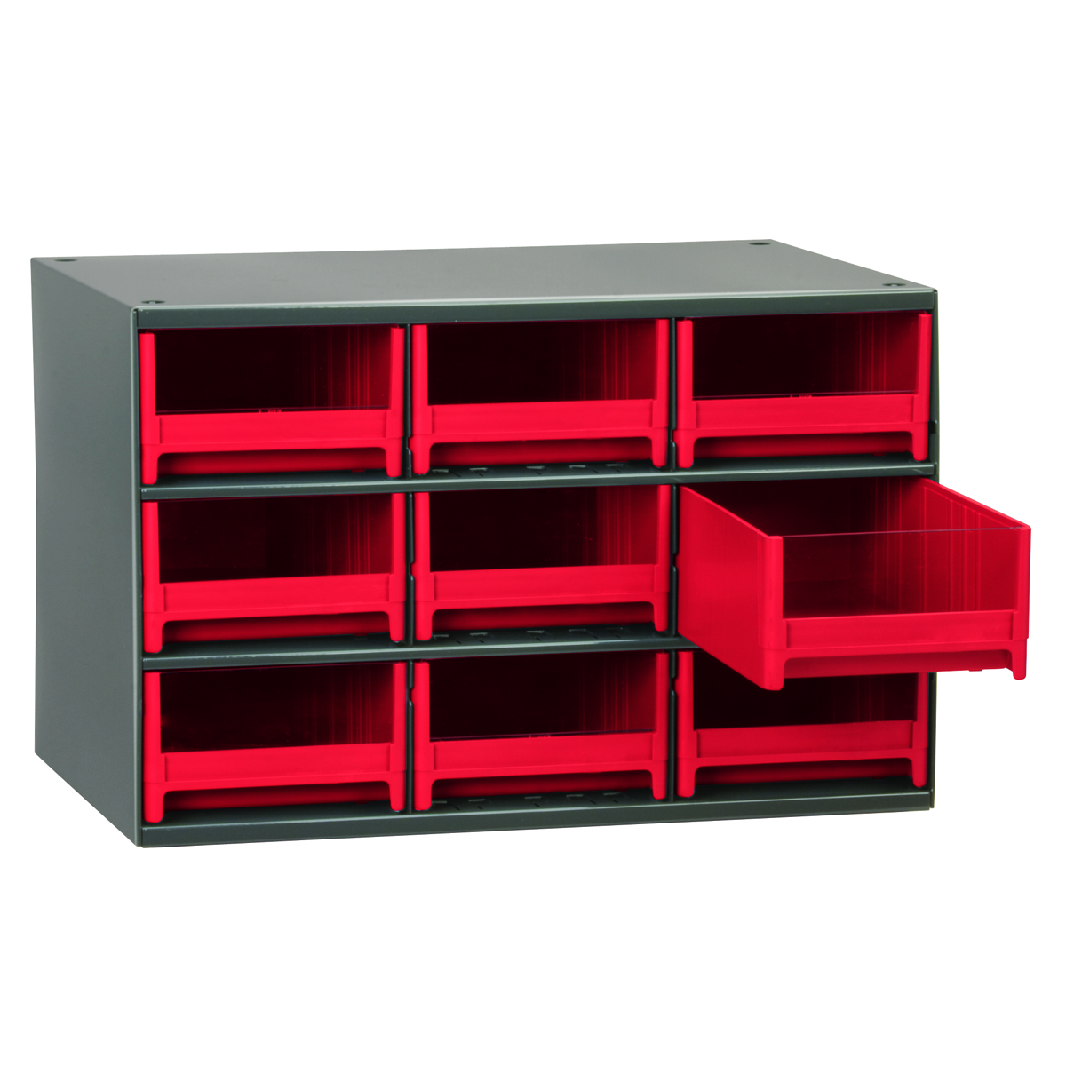akro mils 19 series metal storage cabinet stackable 9 19909 | 19909red