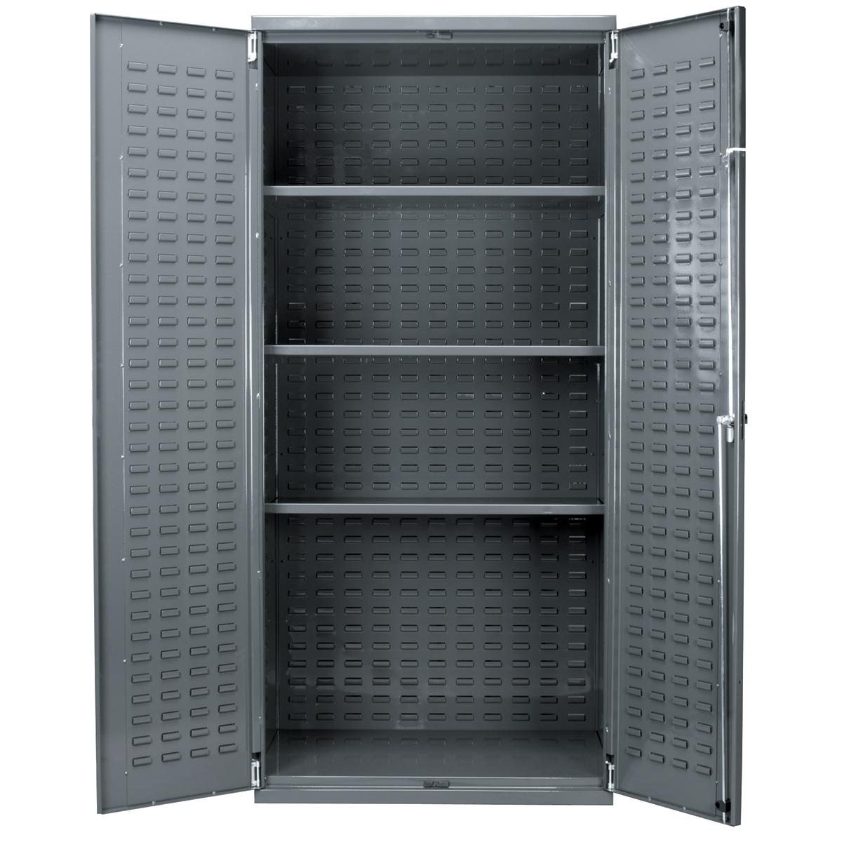 Akro Mils Steel Storage Cabinet Louvered Doors Lock